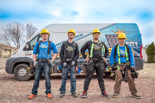 Steel City Solar installation team