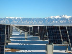 Solar Panels work in the snow