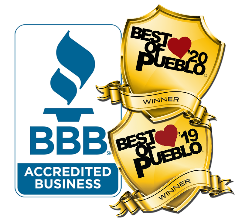Best of Pueblo Awards 2019 and 2020 - Better Business Bureau Accredited Business