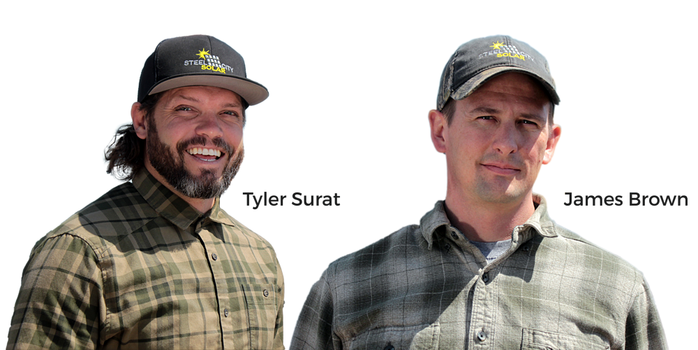 Tyler and Jim at Steel City Solar